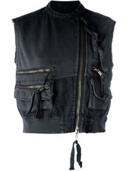 Haider Ackermann 'Perth' Cropped Vest Black