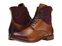 Robert Graham Windsor Cognac Bordeaux Men's Lace Up Boots Brown