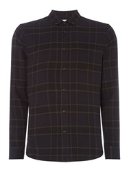 Linea Lloyd Large Brushed Checked Shirt Black