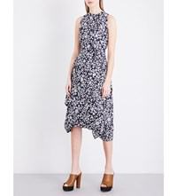Anglomania Bandana Flower Eight Cotton Poplin Midi Dress