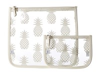 Echo Pineapple Clearly Cool Pouch White Handbags