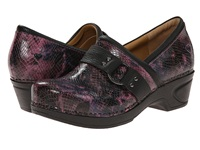Nurse Mates Dakota Pink Snake Women's Clog Shoes