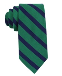 Tommy Hilfiger Vintage Slim Slide Stripe Tie Green
