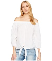 Liverpool Off The Shoulder Shirt With Tie Front White Clothing