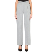 Warehouse Wide High Waist Trousers Grey