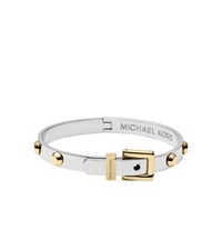 Michael Kors Studded Two Tone Buckle Bangle Two Tone