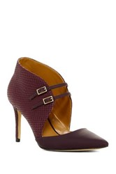 Nine West Amber Bootie Pump Red