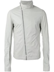 Rick Owens Funnel Neck Jacket White
