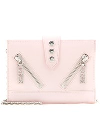 Kenzo Kalifornia Leather Shoulder Bag Pink