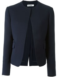 Jil Sander Open Front Jacket Blue