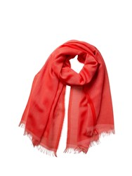 Johnstons Of Elgin Cashmere Tonal Tipped Scarf Red