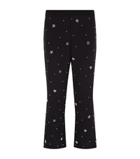 Paul Smith Beaded Crop Silk Trousers Female Black