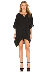 Three Eighty Two Lacey Lace Up Caftan Black