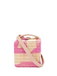 Natasha Zinko Woven Box Clutch Bag Pink