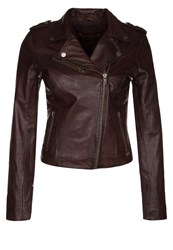 Freaky Nation Macy Leather Jacket Dunkelbraun Dark Brown