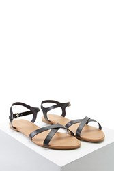 Forever 21 Faux Leather Crisscross Sandals