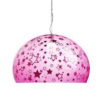 Kartell Children's Fl Y Ceiling Light Stars Pink