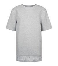 Helmut Lang Oversized Neoprene Logo Sweater Male Grey