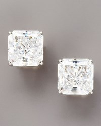 Fantasia Square Cut Cubic Zirconia Stud Earrings