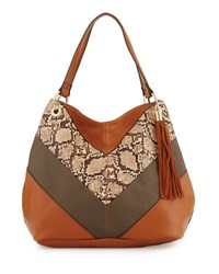 French Connection Cruze Snake Print Tote Bag Brown Pattern