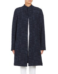 Eileen Fisher Cross Hatch Coat Midnight