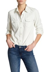 French Connection Classic Western Long Sleeve Shirt Blue