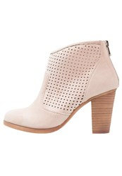 Refresh High Heeled Ankle Boots Nude Beige