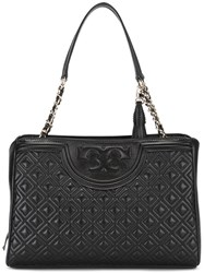 Tory Burch 'Fleming Open' Tote Black