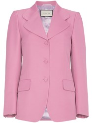 Gucci Pink Suit Blazer Pink And Purple