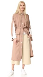 Tibi Trench Coat Hazelnut