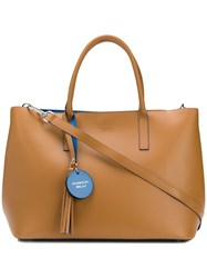 Tosca Blu Hanging Tag Shopper Tote Brown