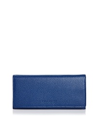 Longchamp Wallet Veau Foulonne Checkbook Blue