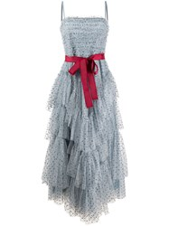 Red Valentino Glitter Tiered Tulle Dress 60
