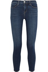 L'agence The Margot Cropped Mid Rise Skinny Jeans Mid Denim