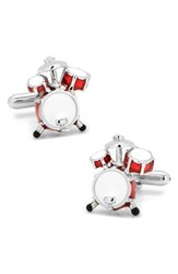 Cufflinks Inc. 'S Drum Set Cuff Links Red White