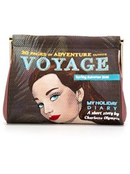 Charlotte Olympia 'Voyage Maggie' Clutch Multicolour