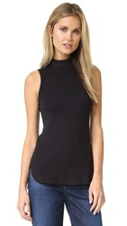 Splendid 1X1 Turtleneck Tank Black