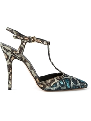 Jean Michel Cazabat Leopard Stiletto Sandals Multicolour