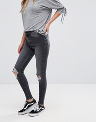 New Look Vanessa Skinny Frayed Jeans Black