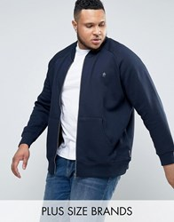 French Connection Plus Jersey Baseball Bomber Jacket Navy