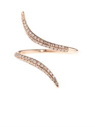 Diane Kordas Diamond And Rose Gold Wrap Ring