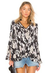 Elliatt Impressionist Top Black