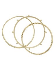 French Connection Set Of Three Dots Bangle Bracelets Gold