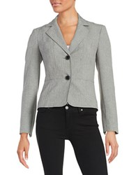 Nipon Boutique Textured Two Button Jacket Grey Black