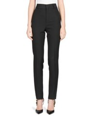 Saint Laurent Relaxed Fit Pleated Trousers Black