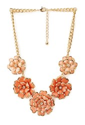 Forever 21 Luxe Cluster Floral Bib Necklace