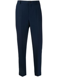 Altea Cropped Length Tailored Trousers Blue