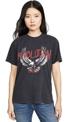 Anine Bing Revolution Tee Washed Black