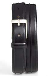 Men's Big And Tall Mezlan 'Parma' Leather Belt Black