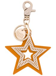 See By Chloe Star Keychain Women Zamac One Size Yellow Orange